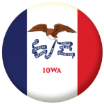 Iowa State Flag 58mm Mirror Keyring